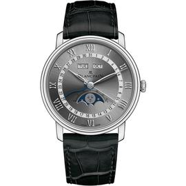 Blancpain Villeret 6654-1113-55b Stainless Steel Moonphase 40mm Unisex Watch