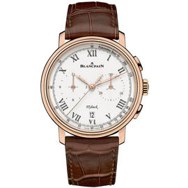 Blancpain Villeret 6680f-3631-55b Flyback Chronograph Pulsometer 18K Rose Gold 43.6mm Unisex Watch