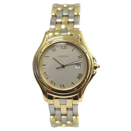 Cartier Cougar Panthere 887904C Stainless Steel & 18K Yellow Gold 33mm Unisex Watch