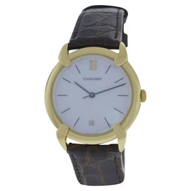 Chaumet 18K Yellow Gold Mother Of Pearl Dial Quartz 32mm Womens Watch