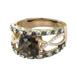 LeVian 14K 2.0cts Quartz 0.72cts Diamond Strawberry Ring Size 7