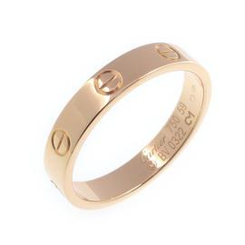 Cartier Mini Love 18K Rose Gold Ring Size 9