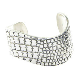 Tous Saurio Silhouette 412971500 Sterling Silver Wide Curved Cuff Bracelet