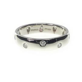 Tiffany & Co. Platinum 950 Diamond Dots Ring Size 6