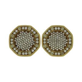 Audemars Piguet 18K Yellow Gold Royal Oak Diamond Cufflinks
