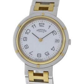Hermes Clipper 18K Yellow Gold Stainless Steel Quartz 3mm Unisex Watch