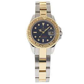 Rolex Yacht-Master 69623 Stainless Steel & 18K Yellow Gold Blue Dial 29mm Womens Watch