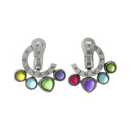 Bulgari 18K White Gold Allegra Multicolor Gemstone Earrings