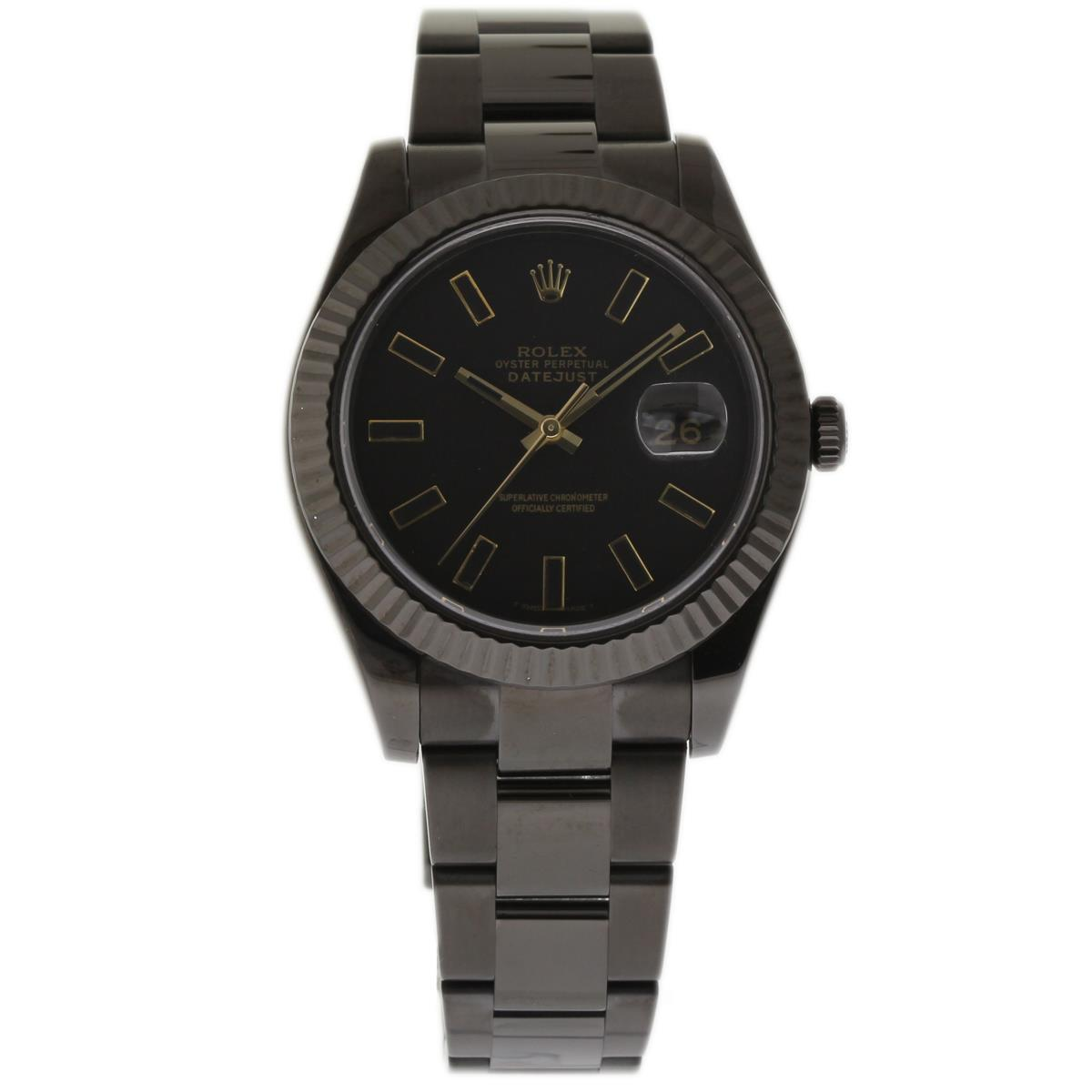 "Image of ""Rolex Datejust II 116334 Stainless Steel Coated Pvd/dlc 41mm Mens"""