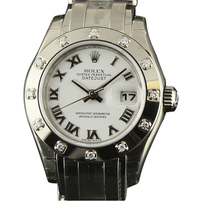 """Image of """"Rolex Datejust 80319 Stainless Steel & White Gold 29mm Womens Watch"""""""