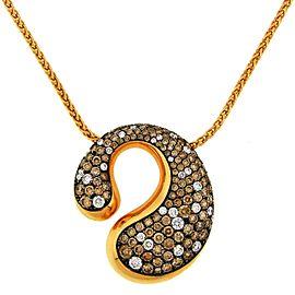 De Grisogono Cognac White Diamond Rose Gold Pendant Necklace