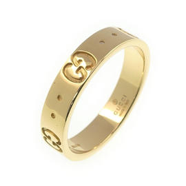 Gucci 18K 750 Yellow Gold Icon Ring Size 5