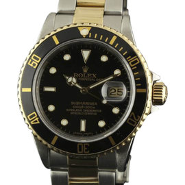 Rolex Submariner 16803 Stainless Steel and 18K Yellow Gold Vintage 40mm Mens Watch