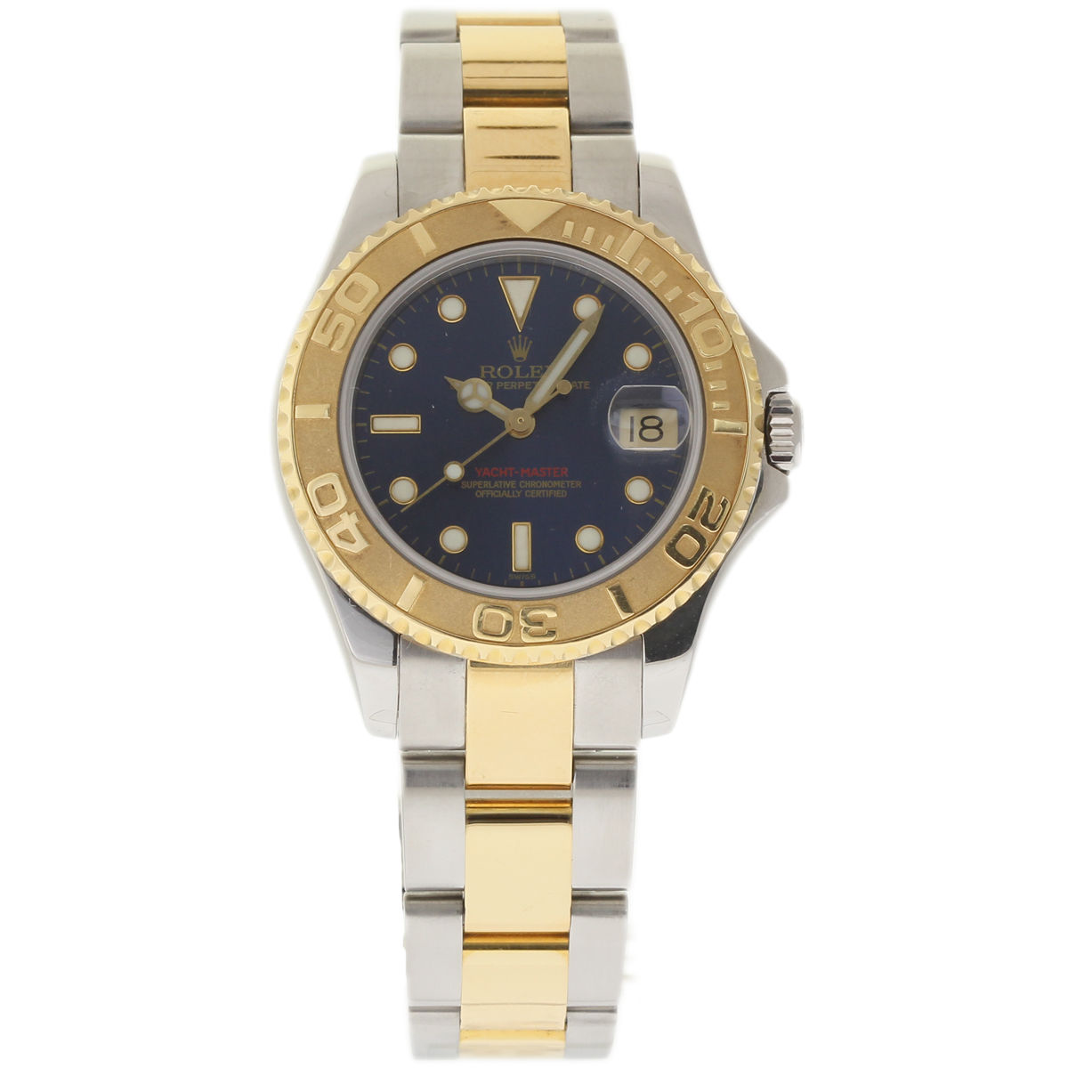 """Image of """"Rolex Yacht-Master 68623 Stainless Steel & 18K Yellow Gold Blue Dial"""""""