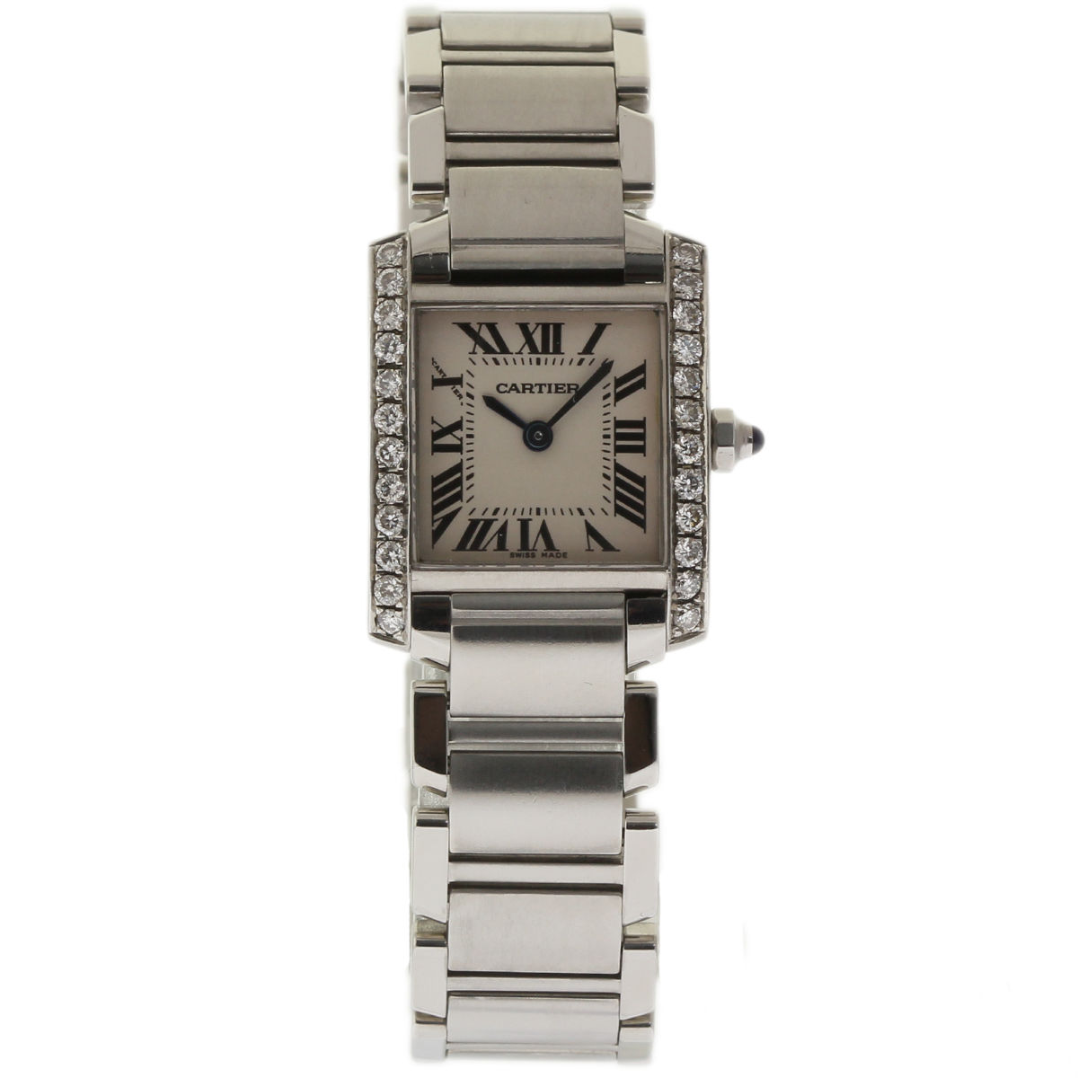 "Image of ""Cartier Tank Francaise W51008Q3 Stainless Steel wDiamond White Dial"""