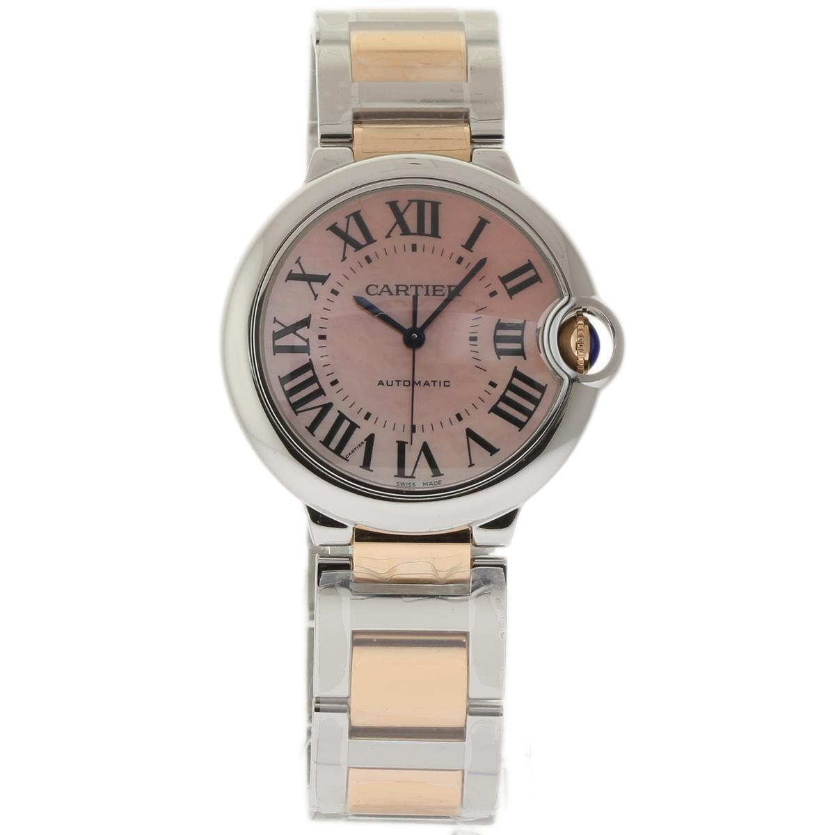 Cartier Ballon Bleu W6920033 Stainless Steel & 18K Pink Gold Rose