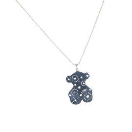 Tous Sterling Silver Bear Motif Love & Hearts Lyra Pendant