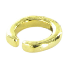 Tous Duna Tube 18K Yellow Gold Plated 925 Sterling Silver Vermeil Ring Size 7