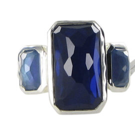 Ippolita Wonderland 925 Sterling Silver with 0.15ct Diamonds, Hematite and Mother of Pearl Ring Size 7