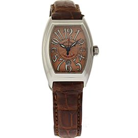 Franck Muller Conquistador 8005LSC Stainess Steel / Leather 27mm Womens Watch