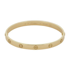 Cartier Love 18K Yellow Gold Bracelet Size 20