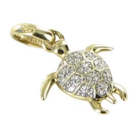 Links of London 18K Yellow Gold Diamond Turtle Charm Pendant
