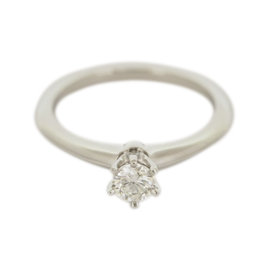 Tiffany & Co. Platinum 0.30ct Diamond Engagement Ring Size 5.75