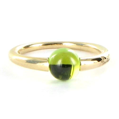 """""""""""Pomellato 18K Rose Gold M'ama Non M'ama Green Peridot Ring Size 6.5"""""""""""" 1417709"""