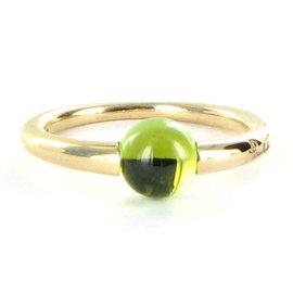 Pomellato 18K Rose Gold M'ama Non M'ama Green Peridot Ring Size 6.5