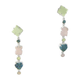 Tous 925 Sterling Silver, Jasper, Opal with Turquoise Earrings