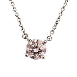 Tiffany & Co. 950 Platinum 0.70ct. Diamond Pendant Necklace