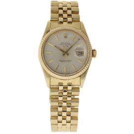 Rolex Date 15037 18K Yellow Gold Vintage 34mm Unisex Watch