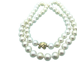 Tiffany & Co. 18K Yellow Gold Pearl Strand Necklace