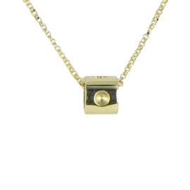 Roberto Coin Pois Moi 18K Yellow Gold Mini Cube Pendant Necklace