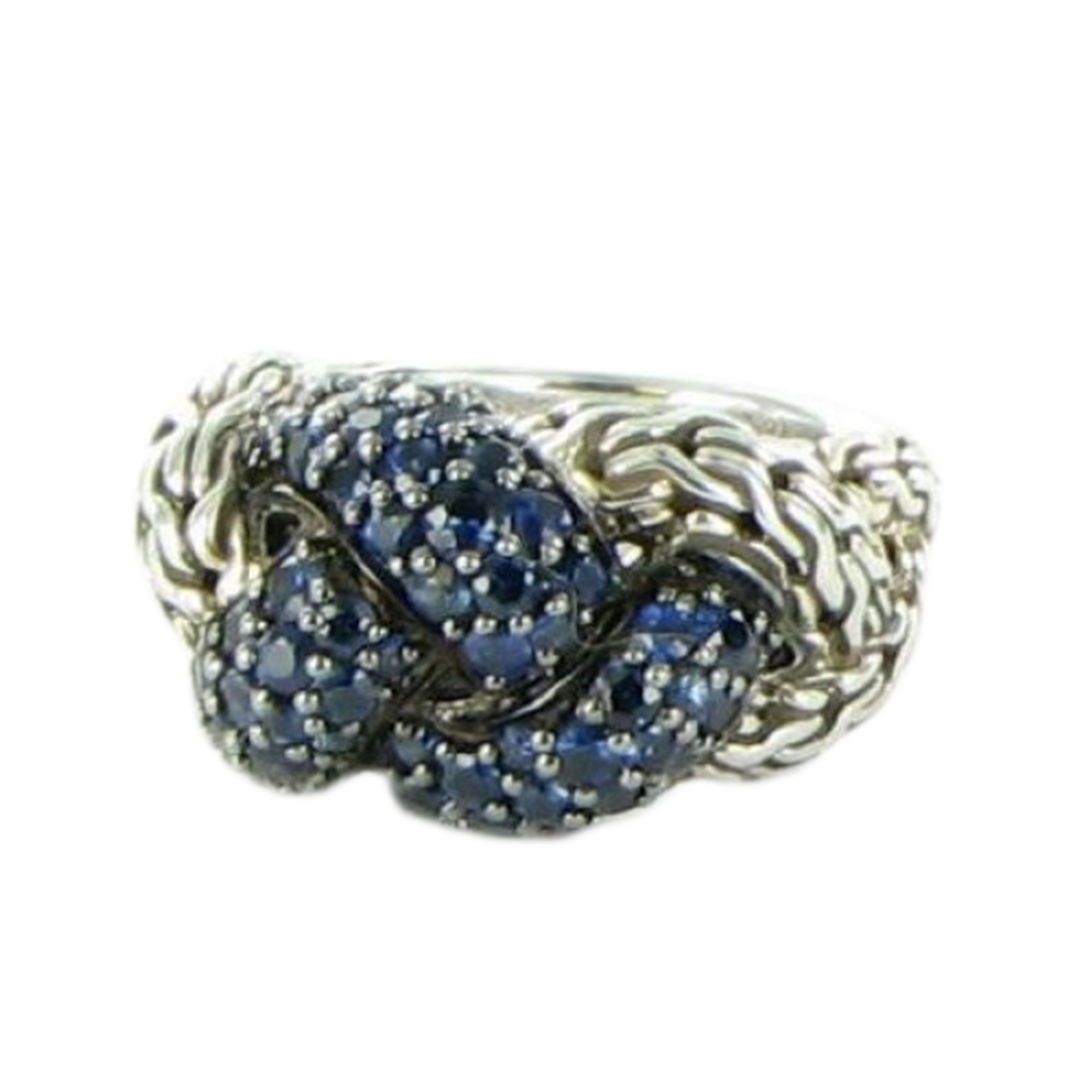 "Image of ""John Hardy 925 Sterling Silver Classic Chain Lava Small Braided Blue"""