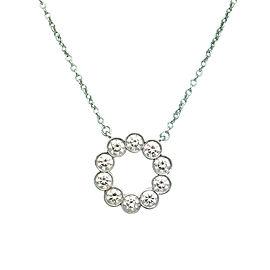 Tiffany & Co. Jazz Platinum 0.90tcw Diamond Circle Pendant Necklace