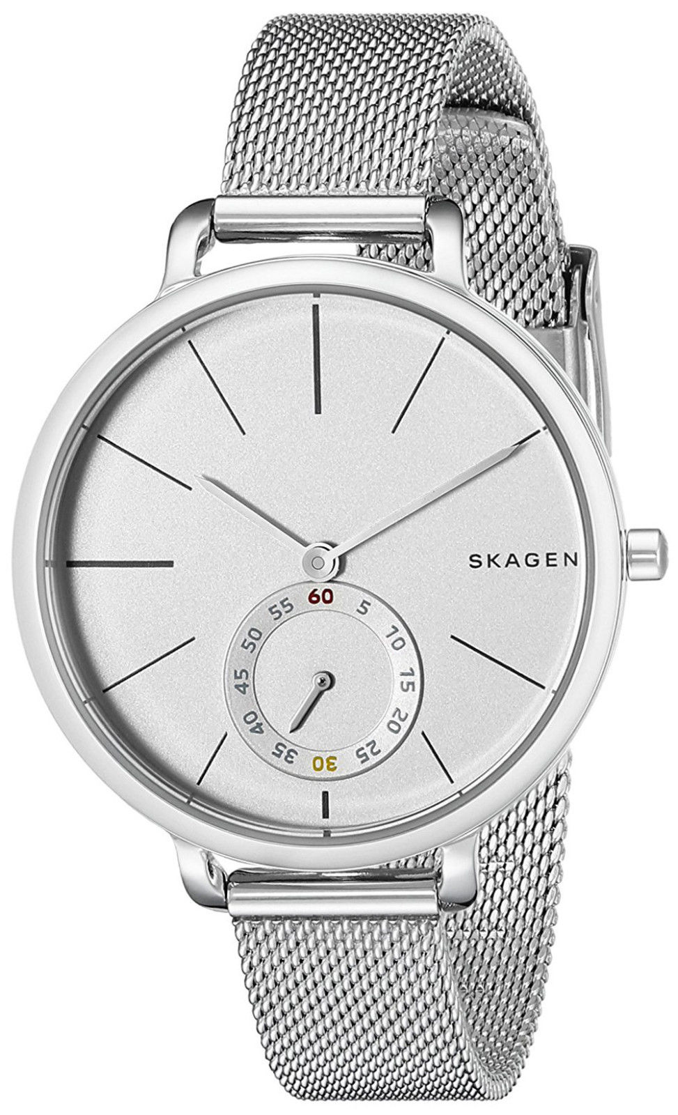 "Image of ""Skagen Skw2358 Hagen White Dial Stainless Steel 34mm Womens Watch"""