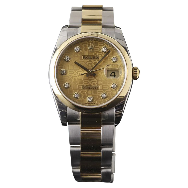 """""Rolex Datejust 116203 Stainless Steel & 18K Yellow Gold 36mm Mens"""""" 1403923"