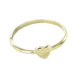Tous Gold Sweet Dolls XXS 18K Yellow Gold Mini Heart Ring Size 7