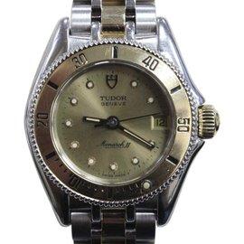 Rolex Tudor Monacrh II 15853 14K Yellow Gold & Stainless Steel 26mm Womens Watch