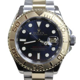 Rolex Yacht-Master 16623 Blue Dial 18K Gold & Stainless Steel 40mm Mens Watch