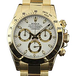 Rolex Daytona 116528 Yellow Gold White Dial Automatic 40mm Mens Watch 2017