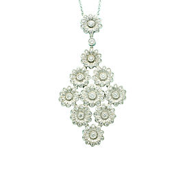 Tiffany & Co. Platinum 2.09tcw Diamond Rose Necklace