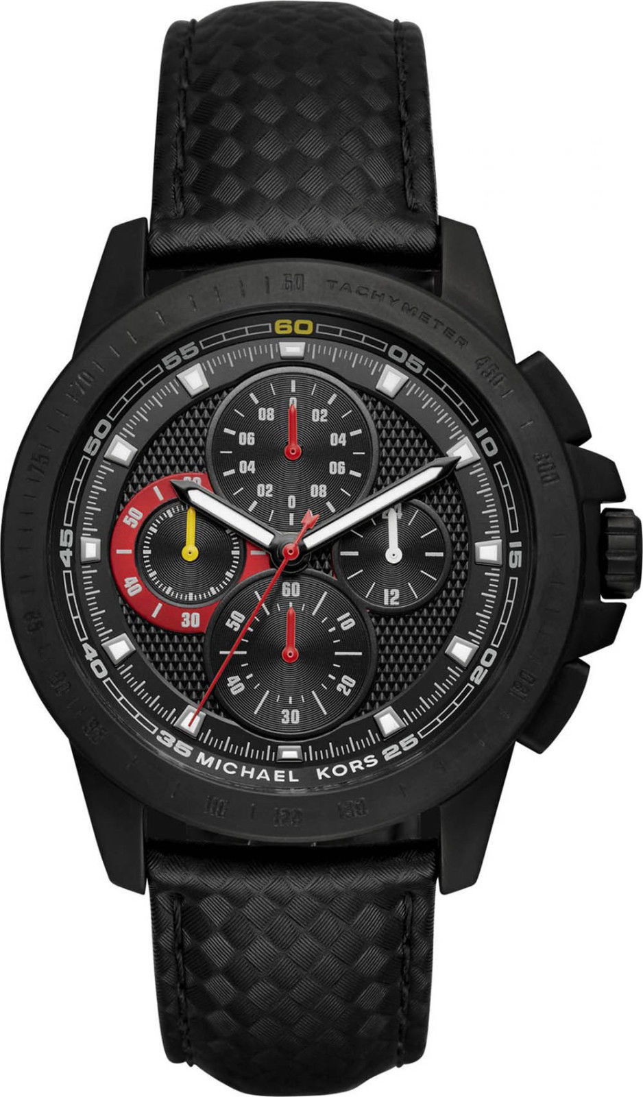 """Image of """"Michael Kors Mk8521 Black Ion Plated Stainless Steel 43mm Mens Watch"""""""