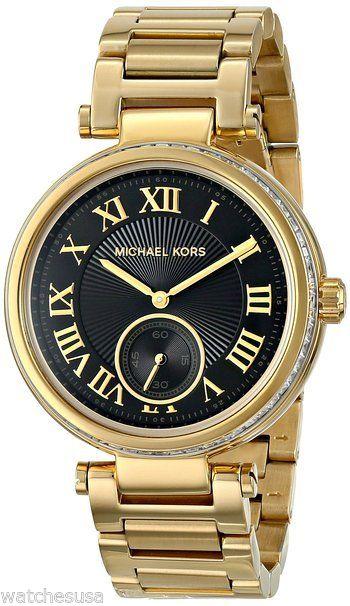 """Image of """"Michael Kors Mk5989 Skylar Gold-Tone Stainless Steel Bracelet 38mm"""""""