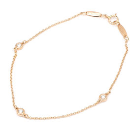 Tiffany & Co. 750 Rose Gold By the Yard 3P 0.09ct. Diamond Bracelet