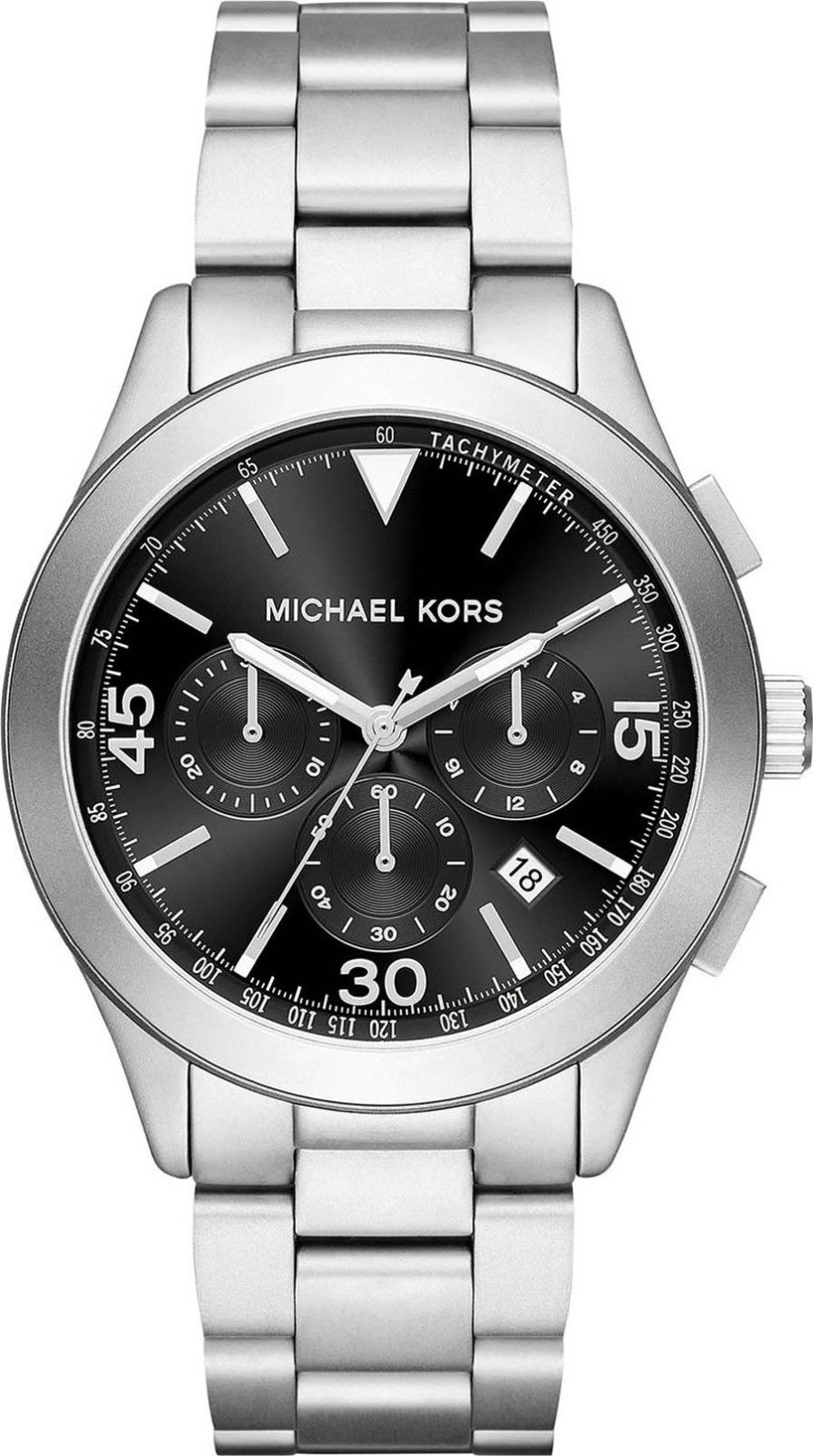 "Image of ""Michael Kors Gareth Mk8469 Stainless Steel with Black Dial 43mm Mens"""
