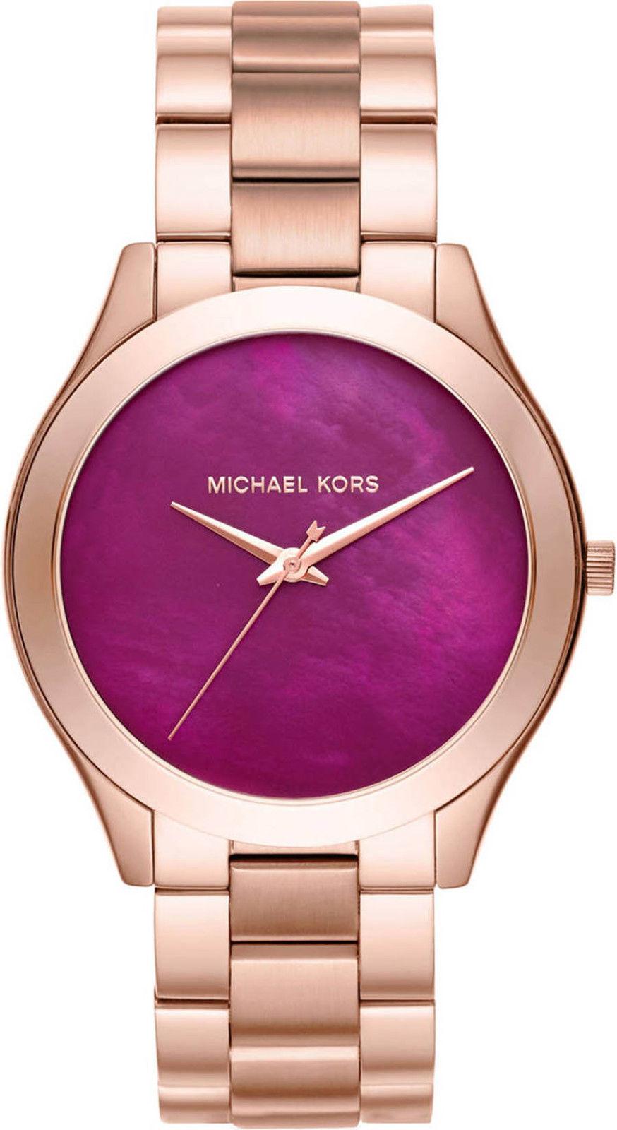 "Image of ""Michael Kors Mk3550 Rose Gold Stainless Steel Pink Dial Quartz 42mm"""