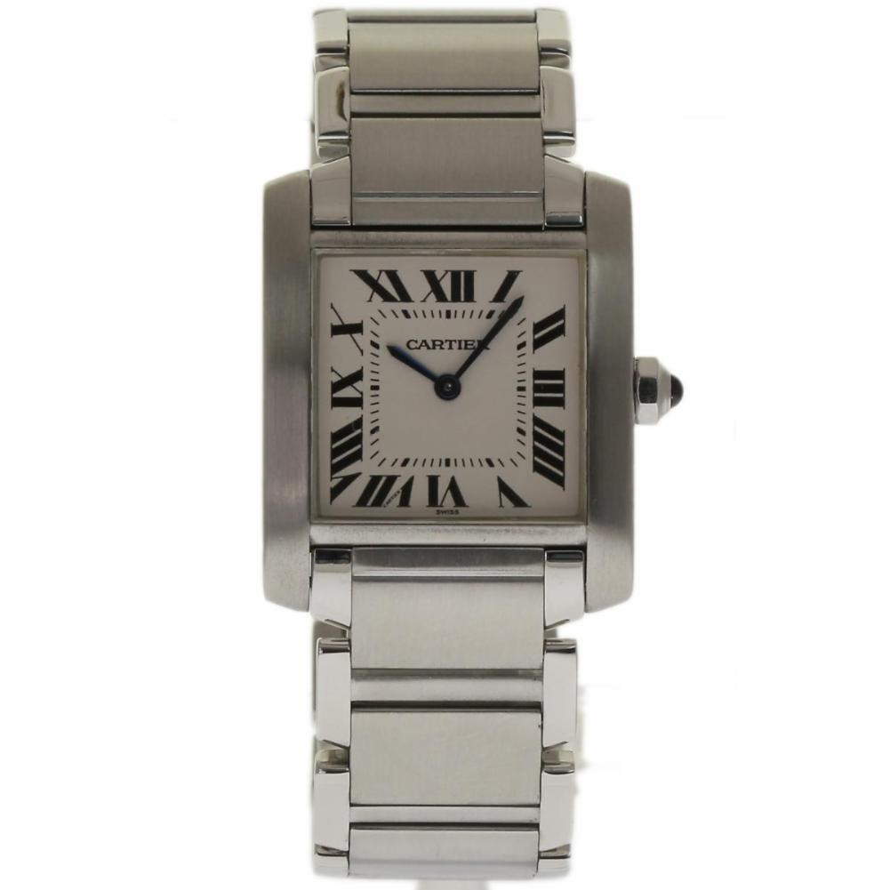 "Image of ""Cartier Tank Francaise Wsta0005 Stainless Steel White Dial Quartz 25mm"""