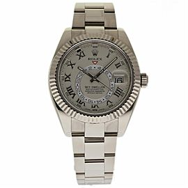 Rolex Sky-Dweller 326939 18K White Gold Ivory Dial Automatic 42mm Mens Watch